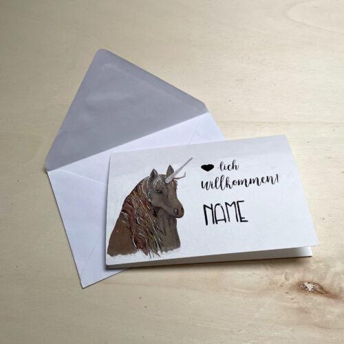 Glückwunschkarte Einhorn